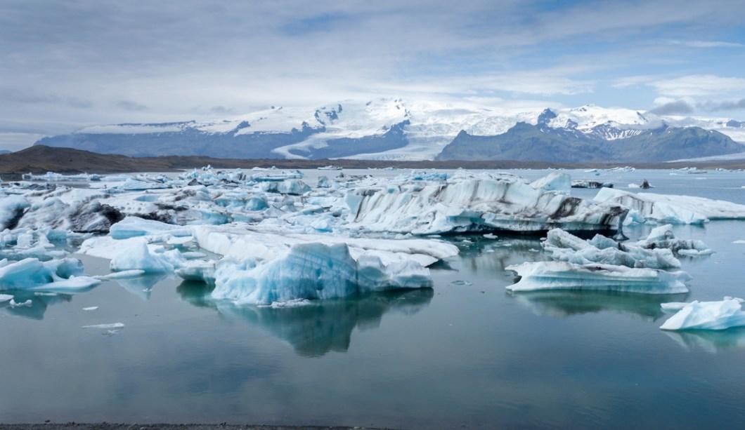 Foto von der Gletscherlagune Jökulsárlón, Island