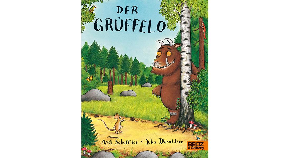 """Cover vom Kinderbuch """"Der Grüffelo"""" von mit Illustrationen von Axel Scheffler und Autorin Julia Donaldson"""
