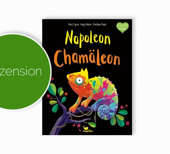 """Buchcover vom Bilderbuch """"Napoleon Chamäleon"""""""