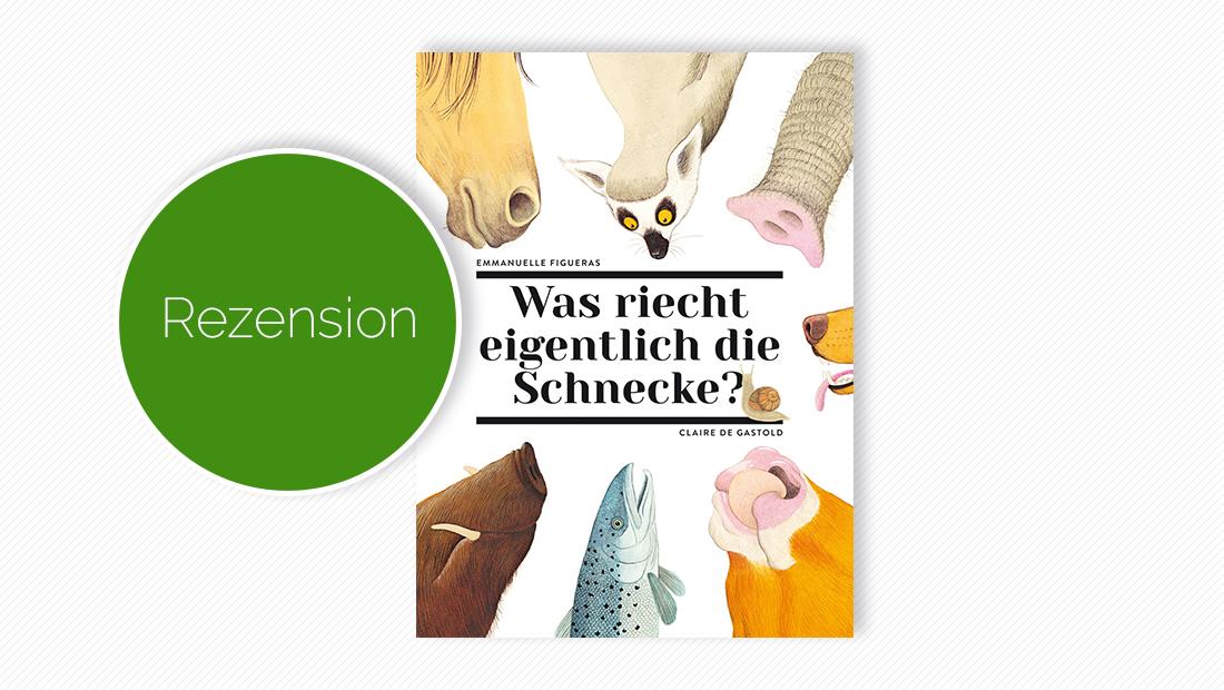 """Cover vom Kindersachbuch """"Was riecht eigentlich die Schnecke? Über den Geruchssinn der Tiere"""""""