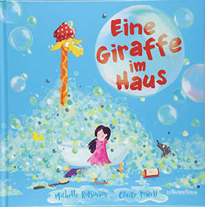 Cover vom Bilderbuch Eine Giraffe im Haus