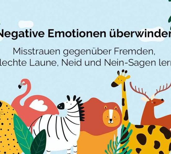 Coverbild zum Beitrag: Negative Emotionen überwinden - Misstrauen gegenüber Fremden, schlechte Laune, Neid und Nein-Sagen lernen