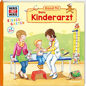 Cover vom Bilderbuch Beim Kinderarzt. WAS IST WAS Kindergarten Band 16