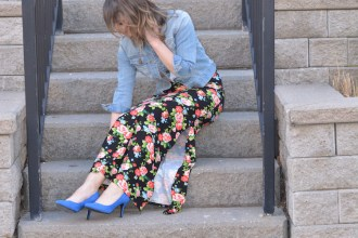 Floral Skirt Styled Two Ways