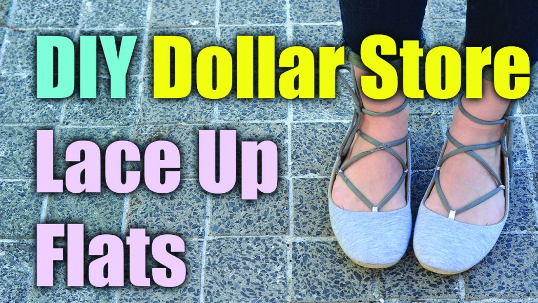 DIY Dollar Store Lace Up Flats