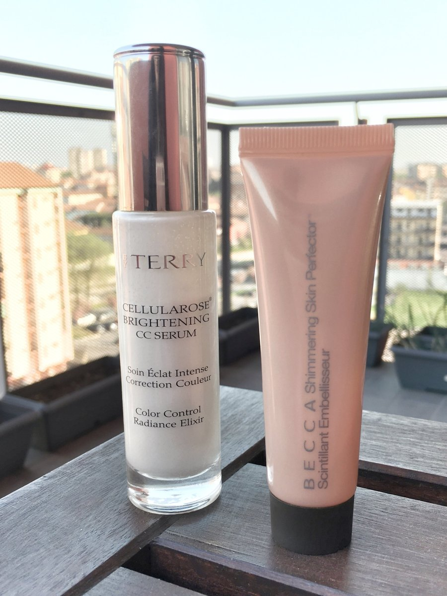 Base make up che illumina il tuo viso | Becca Backlight Priming Filter Vs By Terry Cellularose Brightening CC Lumi-Serum