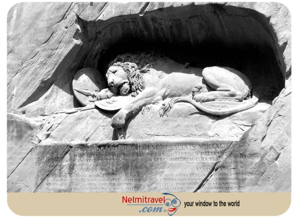 Lion monument in Lucerne,Lucerne places to visit,Monuments in Lucerne,Luzern Lion,Lion of Lucerne,Photo of Lion Monument