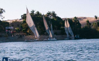 Egyptian Felucca; Sailing on the Nile with a Felucca; Sailboats on the Nile river; Nelmitravel