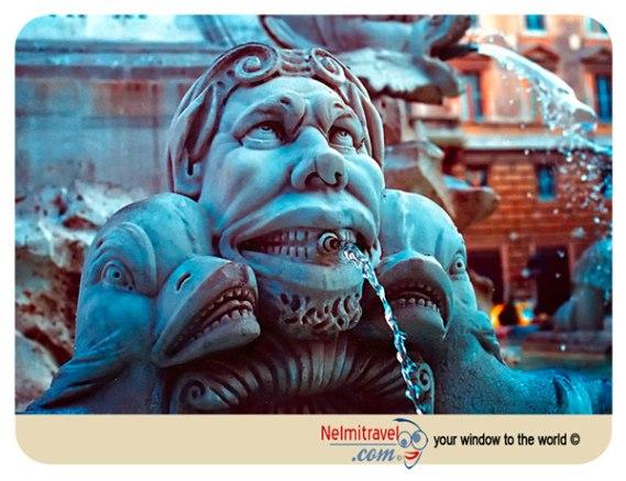 The Pantheon fountain, Rome, Fountains, Statues, Piazza della Rotonda, fontana del pantheon;