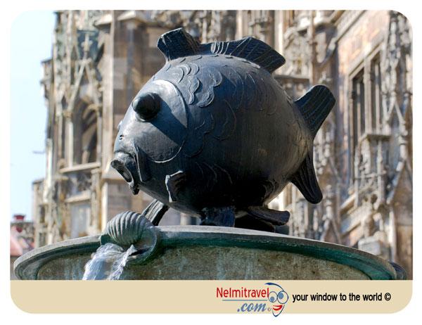 Fish Fountain in Marienplatz Munich tourist attraction