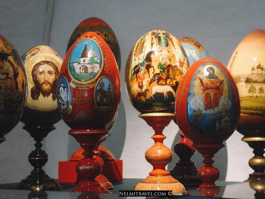 Exquisite detail on the Faberge eggs.