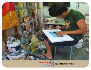 Koh Samui; Artists in Koh Samui; Artist drawing from photos; Paintings in Koh Samui; Art work of Koh Samui;
