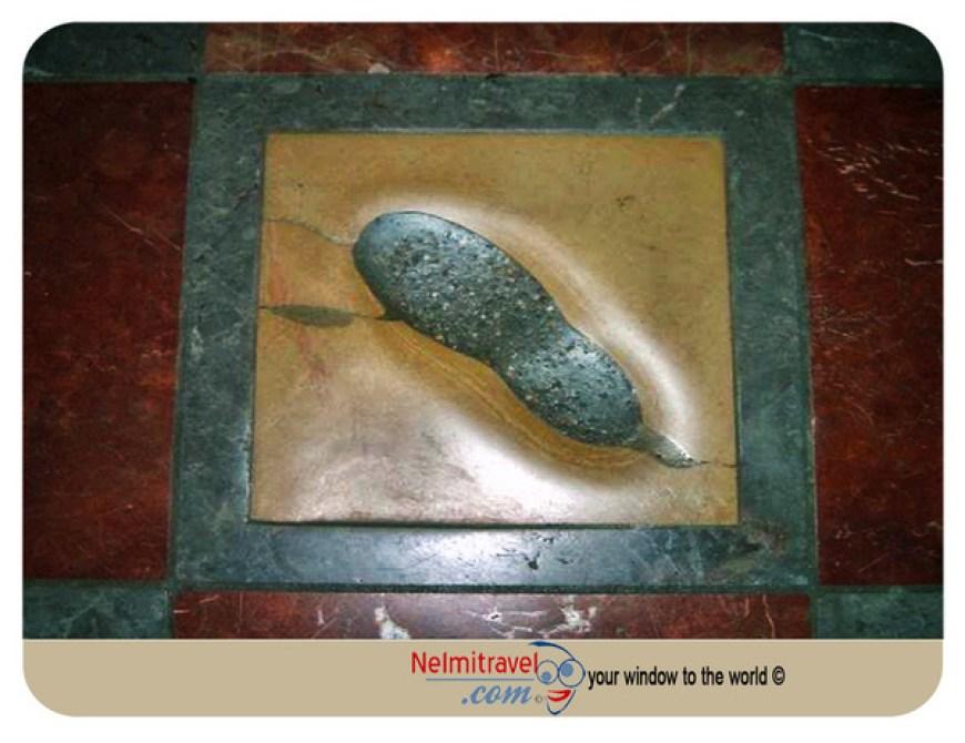 The devil´s footprint in the Munich Frauenkirche