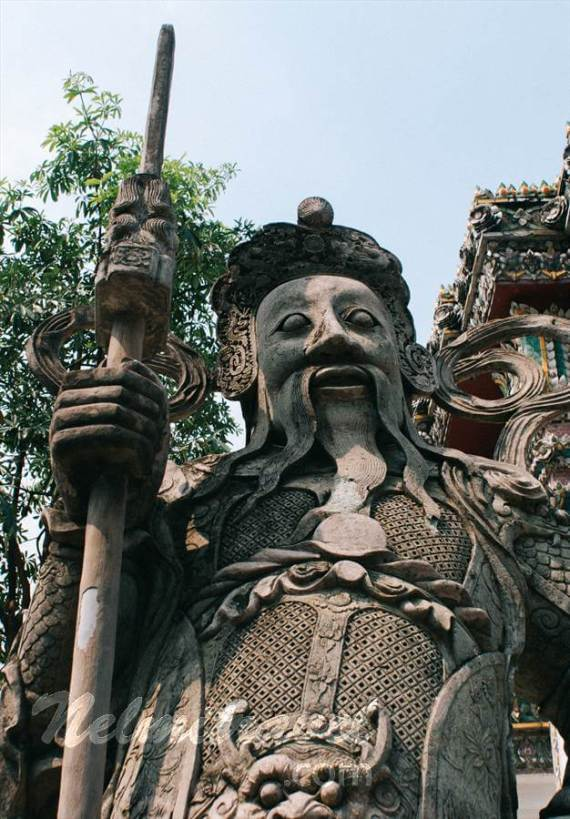 Chinese statues Wat Pho,Thai Statues;Wat Pho Temple;Buddhism temples;Chinese statues;Chinese Warriors;Guardians of temple;Garden ornaments
