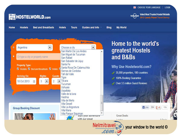 Hostel; Hostelworld; Hostelworld.com; Booking accommodation through Hostelworld; jugendherberge; Book Hostels Online