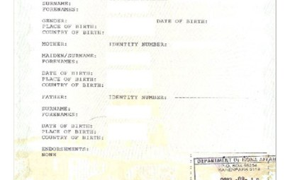 Unabridged Birth Certificate, South Africa Legislation, Travelling to South Africa with children, Travelling abroad with children from South Africa;