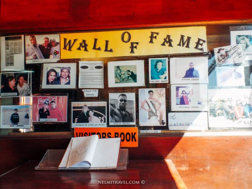 The wall of fame at Desert  Explorers.
