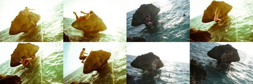 Cliff jumping at Kenyama Beach Resort!