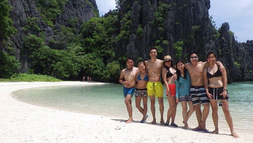 Group photo at Hidden Beach
