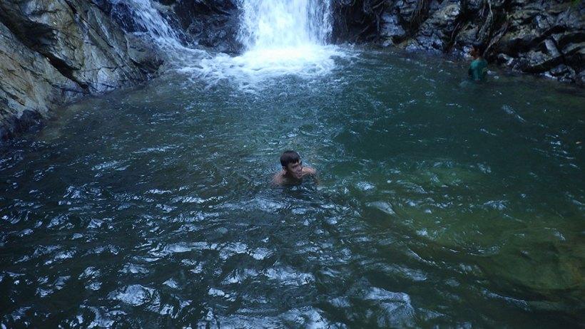 Swimming in Nagkalit-kalit Falls