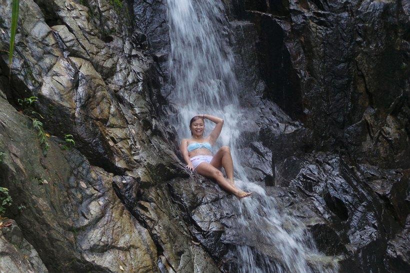 Free massage at Nagkalit-kalit Falls