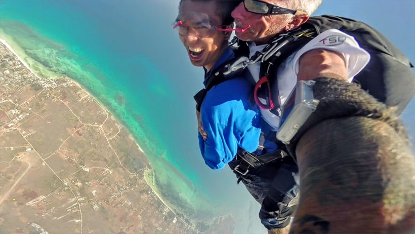 Skydiving in Bantayan Island, Cebu