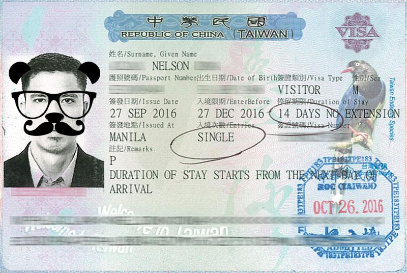 Taiwan tourist visa