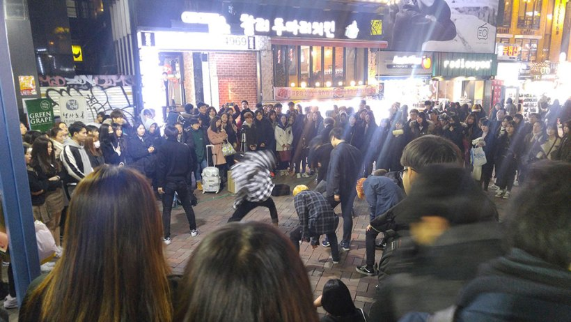 Hongdae at night