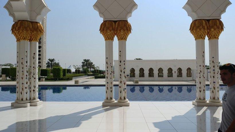 Columns and reflecting pool