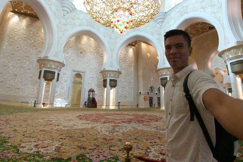 Selfie in the prayer hall