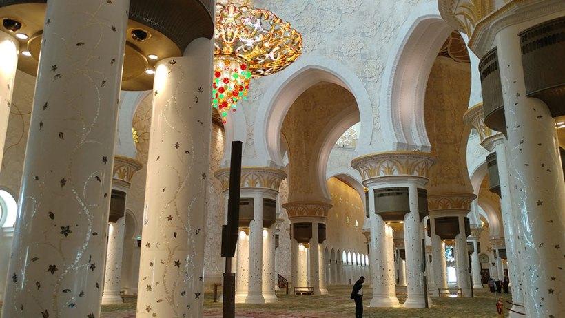 Columns in the prayer hall