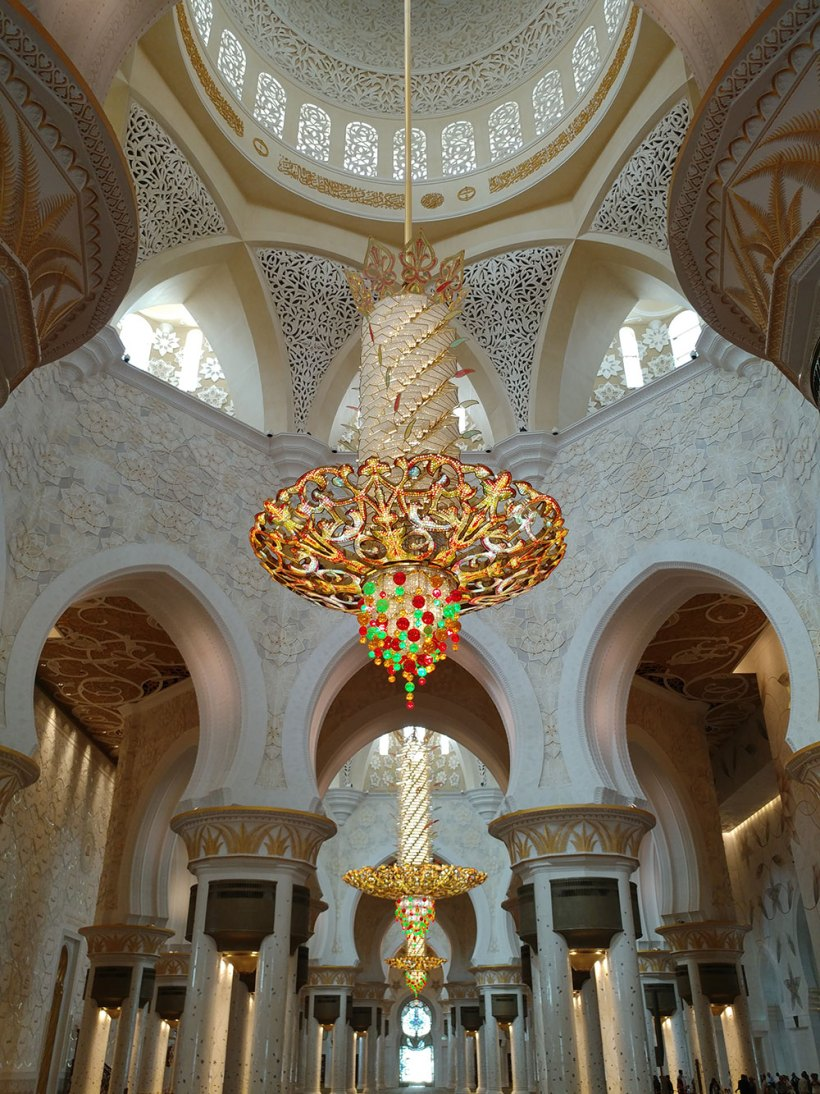 Chandeliers in the prayer hall