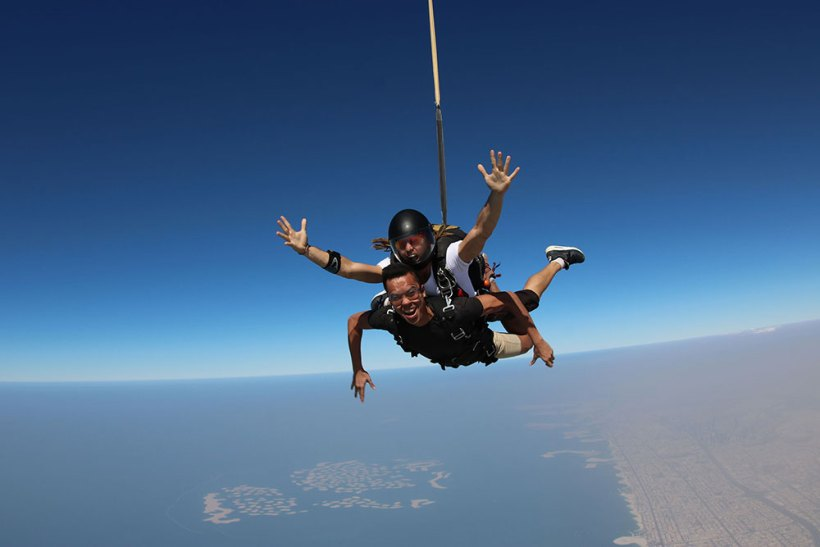 Free fall, the best part