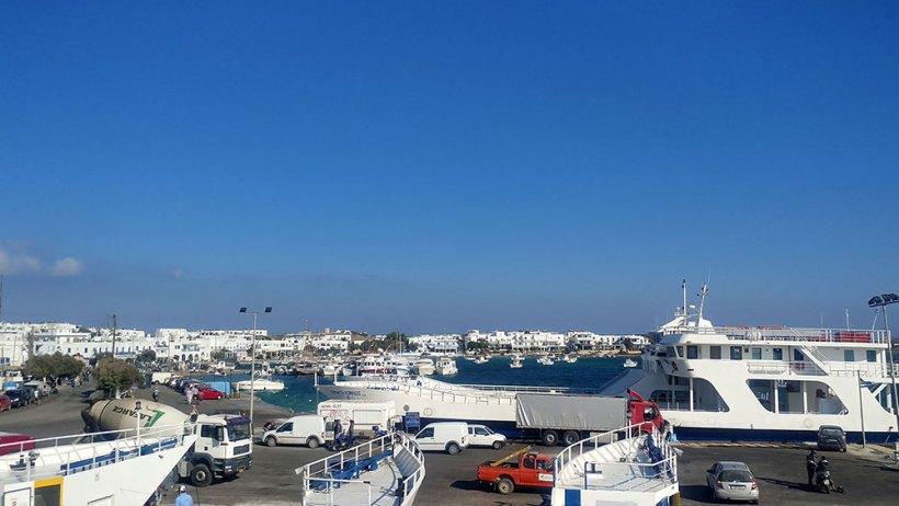 Back at Antiparos Port