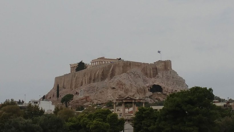 The Acropolis as seen from the Temple of Olympian Zeus