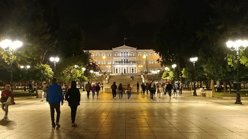 Syntagma Square at night