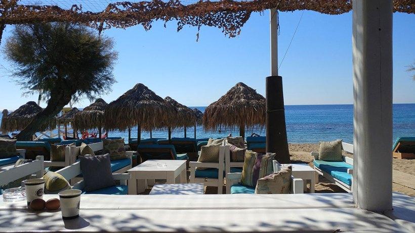 Paradise Beach in Mykonos, Greece