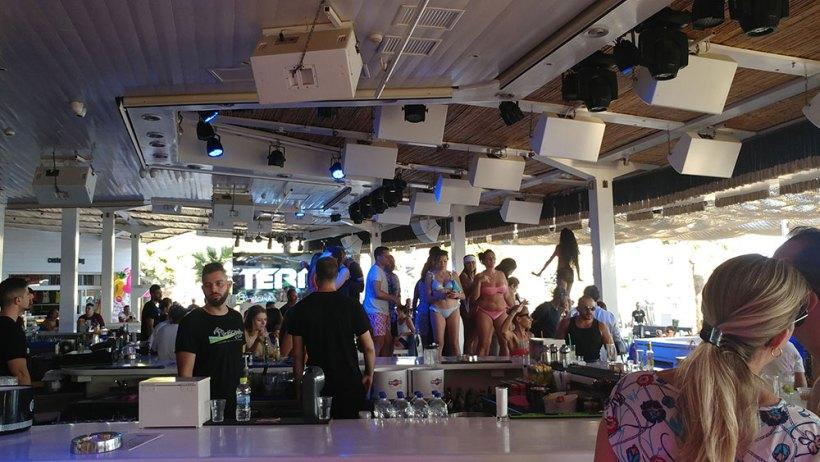 Tropicana Restaurant & Bar at Paradise Beach in Mykonos, Greece