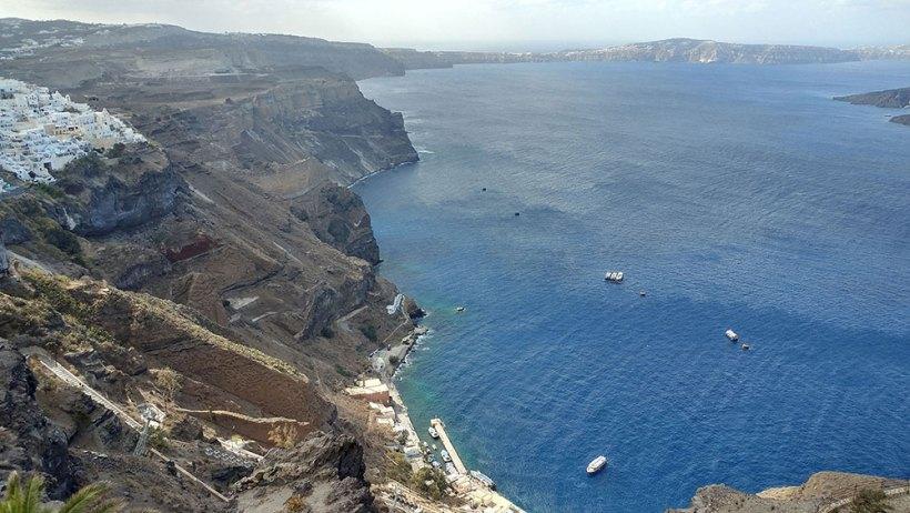 Traversing Santorini by foot