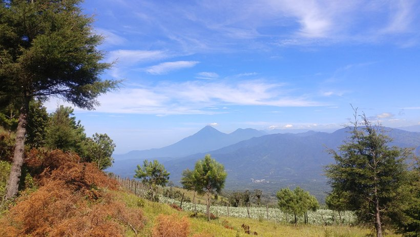 Volcan de Agua from a distance