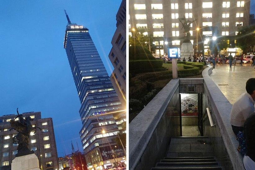 Torre Latinoamericana and subway entrance