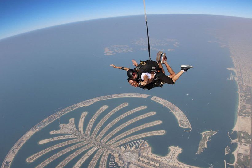Skydiving in Dubai (Seat sale to Dubai, UAE)