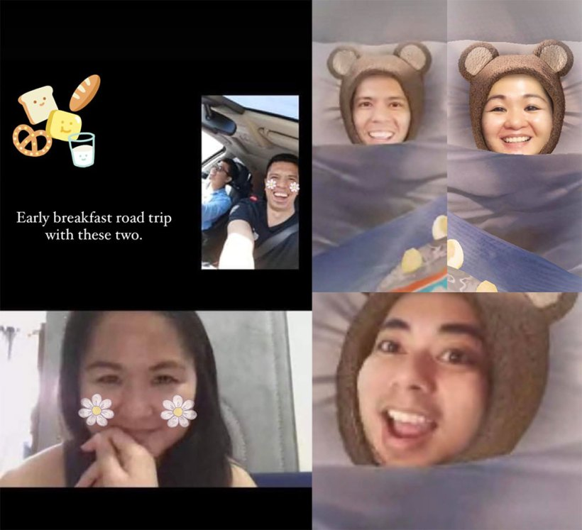 Video call with high school classmates