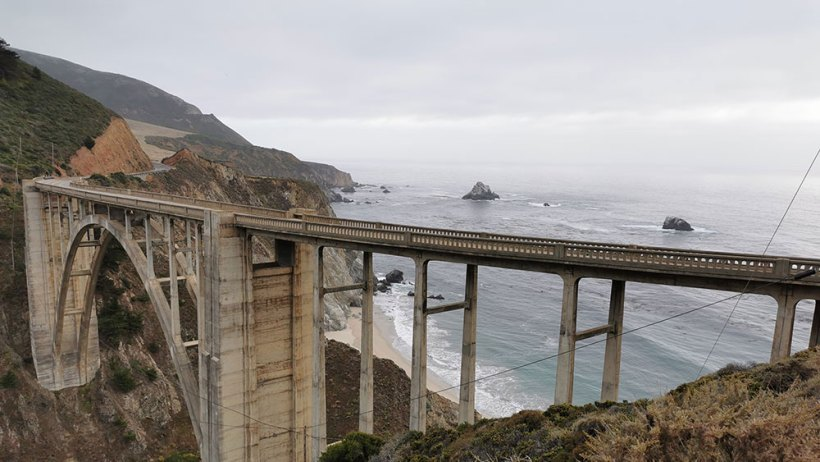 Pacific Coast Highway road trip in one day stopover: Bixby Creek Bridge