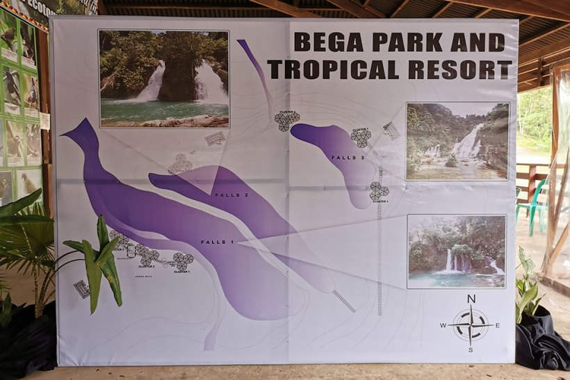 Bega Falls orientation