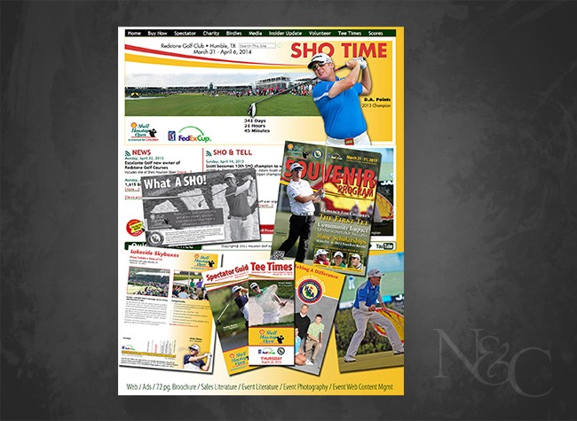 Shell Houston Open 2013 Print & Web Marketing Package