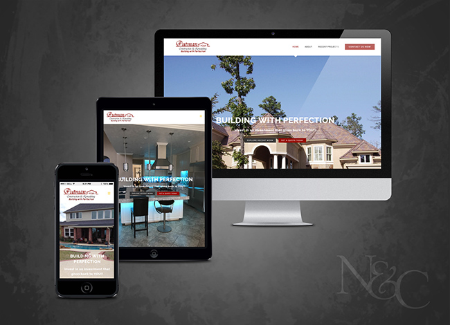Sugar Land web development project site sample images for Putman Construction & remodeling