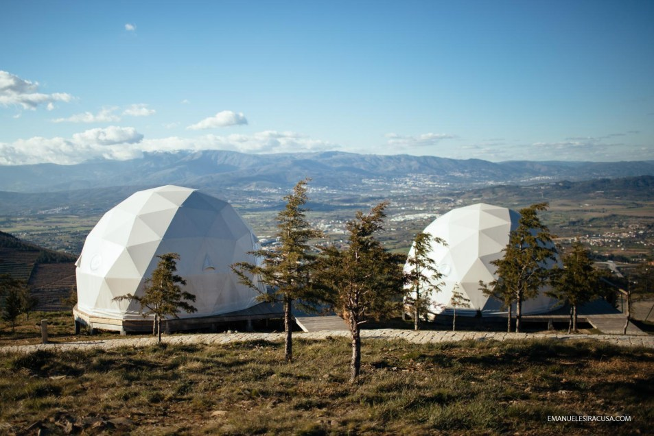 Natura Glamping, a high end camping site in the hearth of the Gardunha Mountain, with geodesic domes overlooking the Serra da Estrela, Alcongosta, Fundao, 2016