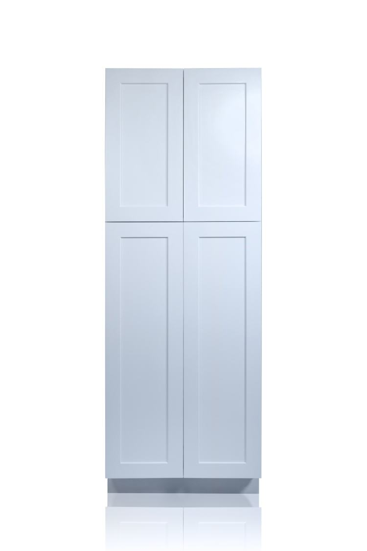White Shaker 30 Pantry Utility Cabinet Nelson Cabinetry