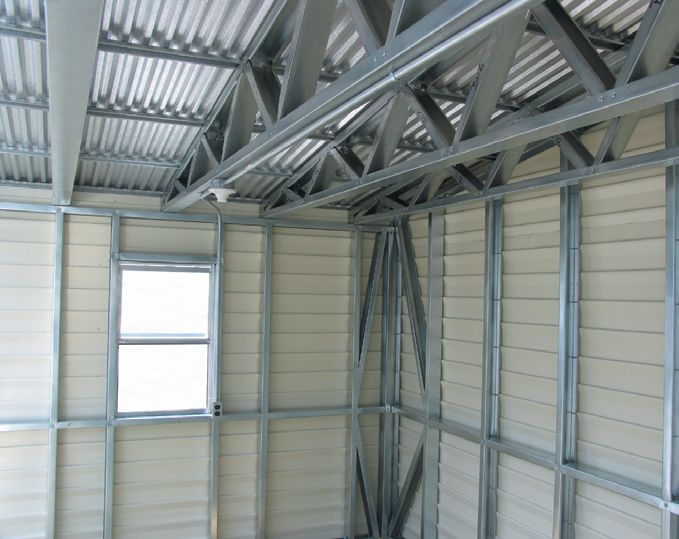 Lark Buildings Accu-steel Truss Roof Section